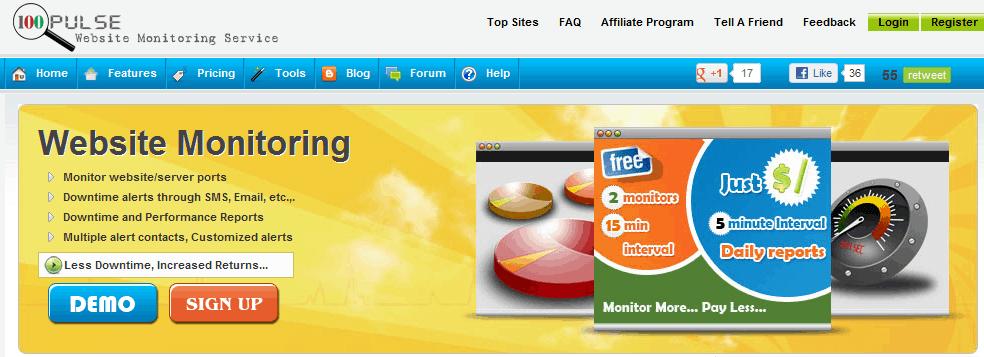 100pulse servicios gratuitos para monitorizar una web