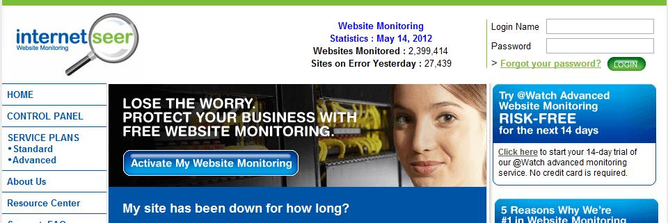 internetseer servicios gratuitos para monitorizar una web