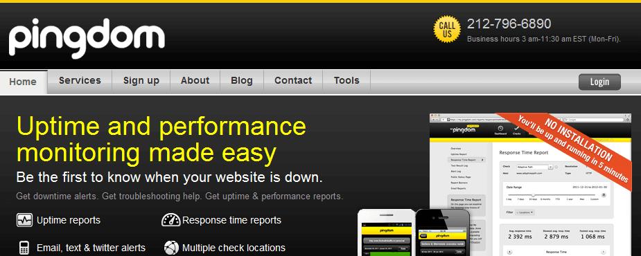 pingdom servicios gratuitos para monitorizar una web