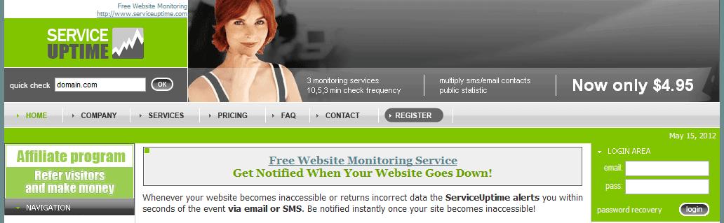 service uptime servicios gratuitos para monitorizar una web