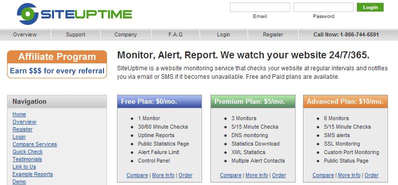 siteuptime servicios gratuitos para monitorizar una web