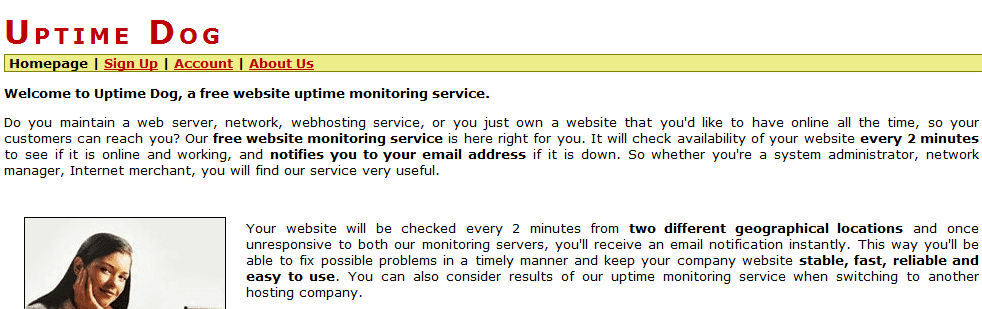 uptimedog servicios gratuitos para monitorizar una web