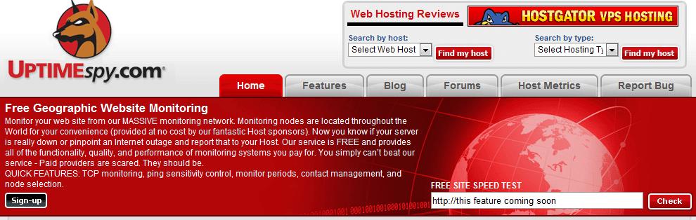 uptimespy servicios gratuitos para monitorizar una web