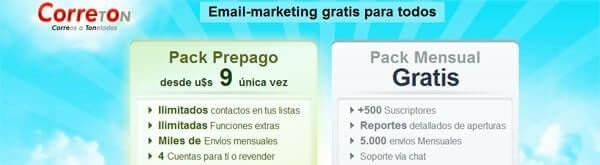 mejores herramientas gratuitas de email marketing correton