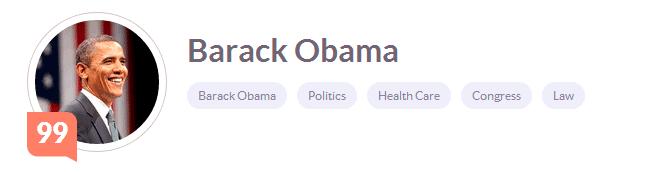klout barack obama