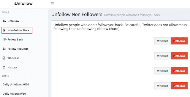 herramienta unfollow twitter