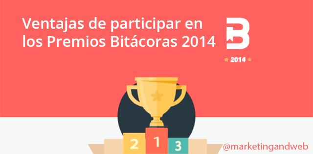 Participa en los Premios Bitácoras 2014 y vota al mejor Blog de Marketing