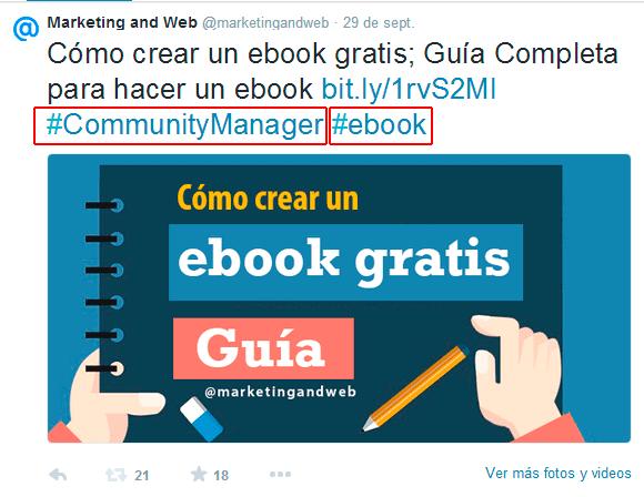 como crear un ebook twitter