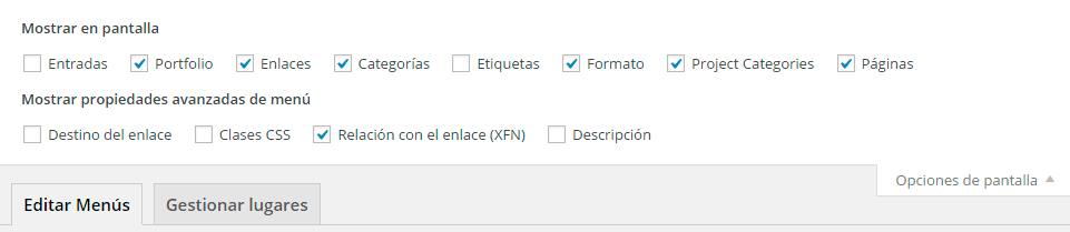 insertar nofollow menu wordpress