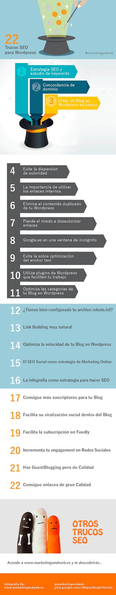 infografía trucos seo en 2014