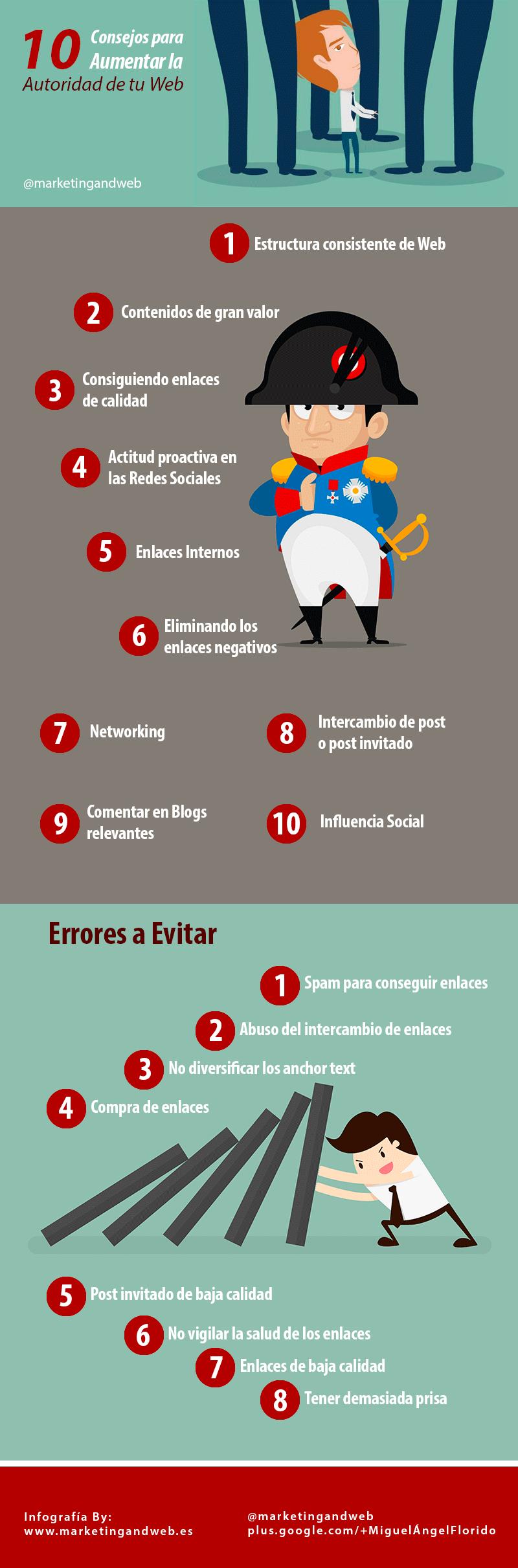 10 Consejos para aumentar la autoridad de tu Web