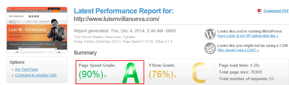 pagespeed luis villanueva