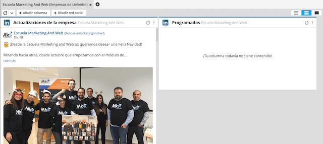 programar publicaciones en linkedin