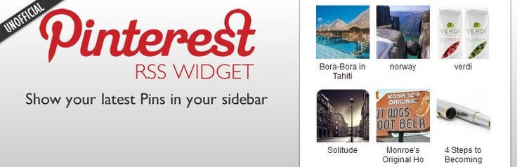 Pinterest RSS Widget