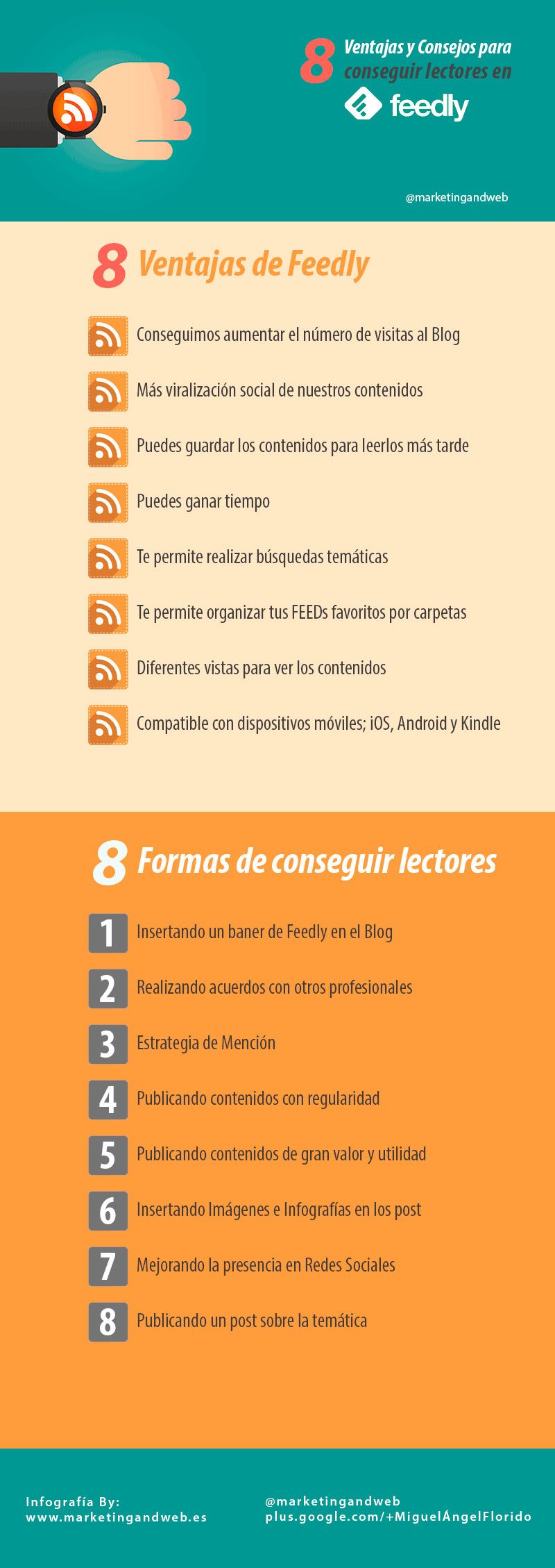 conseguir lectores feed rss infografia