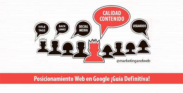 Posicionamiento Web en Google – Completa Guía SEO