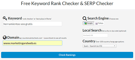 Free Keyword Rank Checker