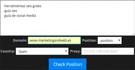 Ninja Keyword Position