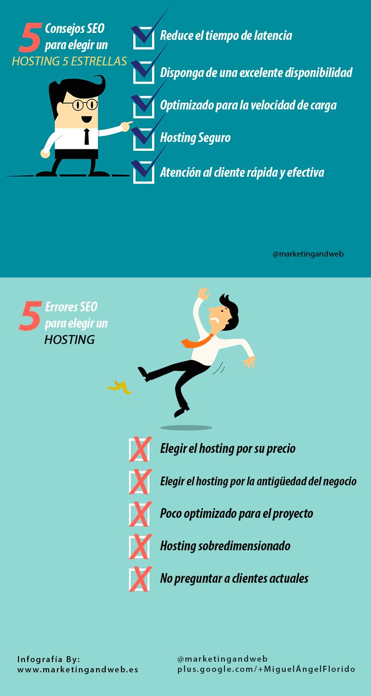 consejos seo para elegir un hosting 5 estrellas infografía