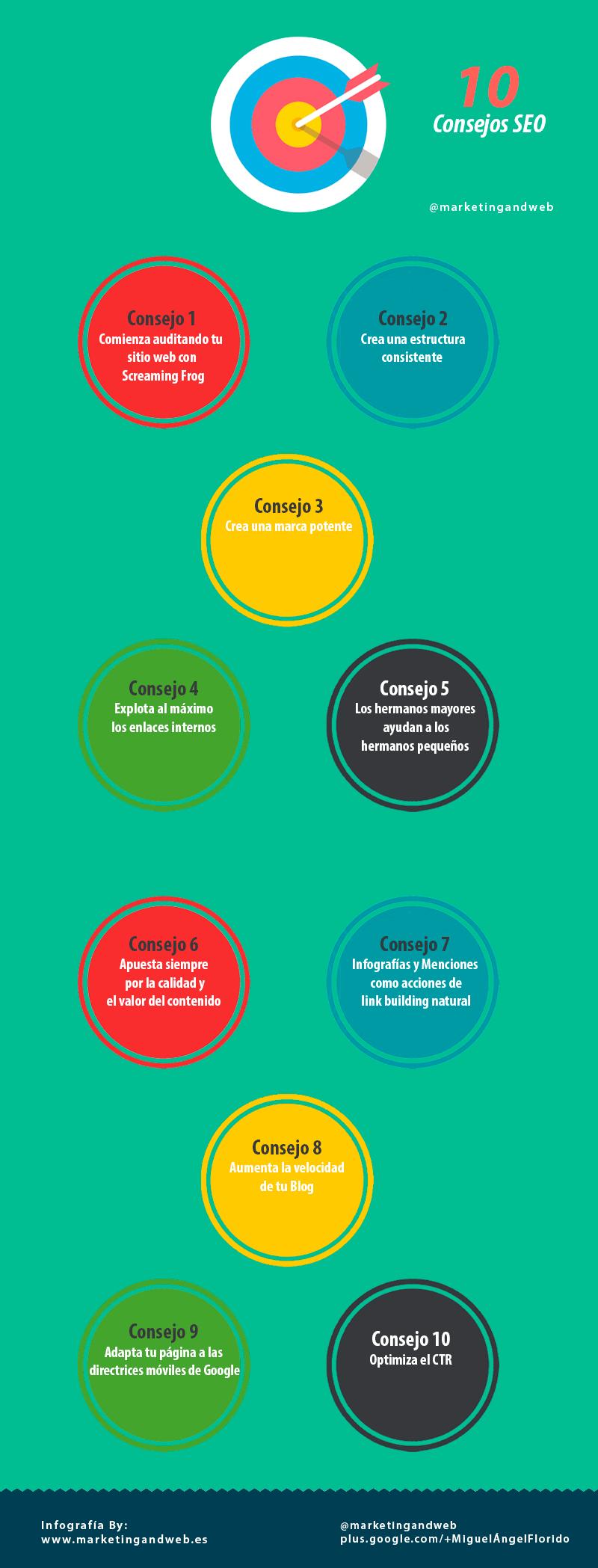 consejos seo infografía