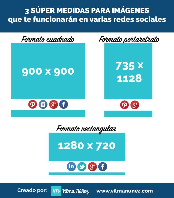 medidas redes sociales