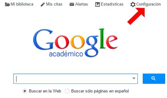 configuracion google academico