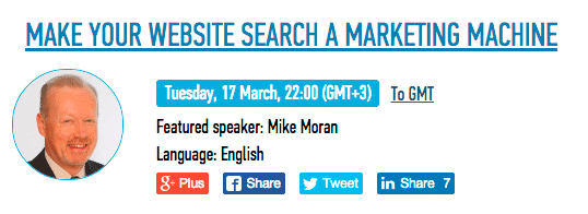 mike moran webinar semrush