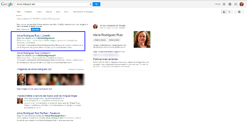 Alicia Búsqueda LinkedIn