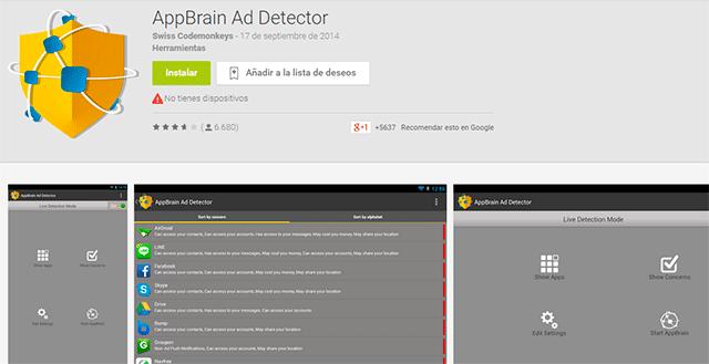 app brain ad detector