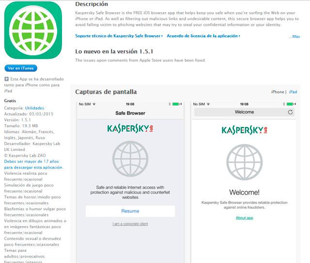 kaspersky antivirus gratis iphone