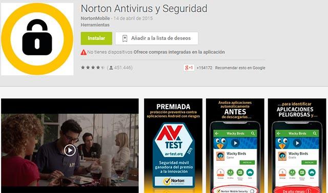 norton antivirus seguridad