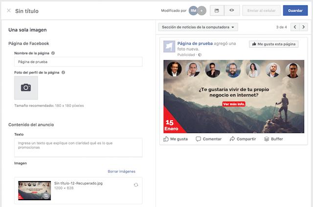 hacer anuncios en facebook