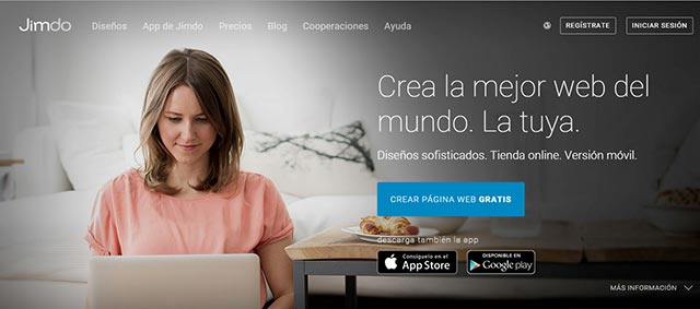 free platform to create a jimdo website