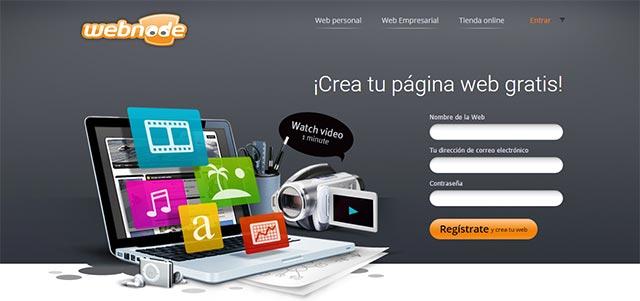 webnode crear paginas web gratis