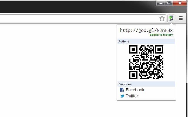 Extension goo.gl URL Shortener