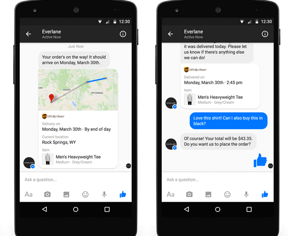 Facebook Messenger Everlane