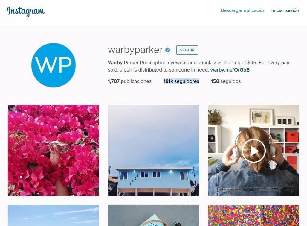 Instagram WarbyParker