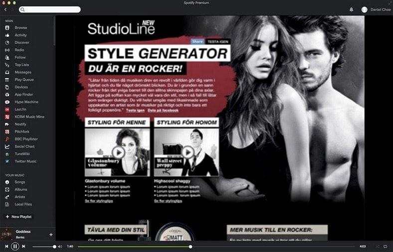 Spotify Studio Line