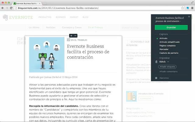 evernote chrome extension