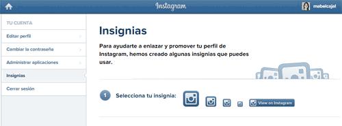 insigias en instagram