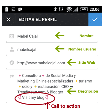 como optimizar tu perfil en instagram
