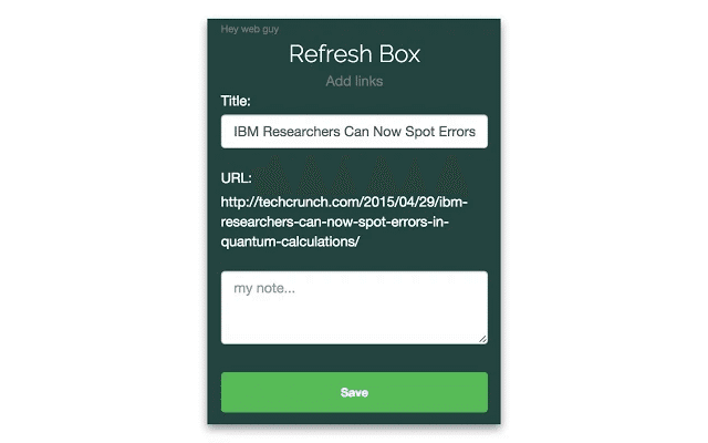refresh box