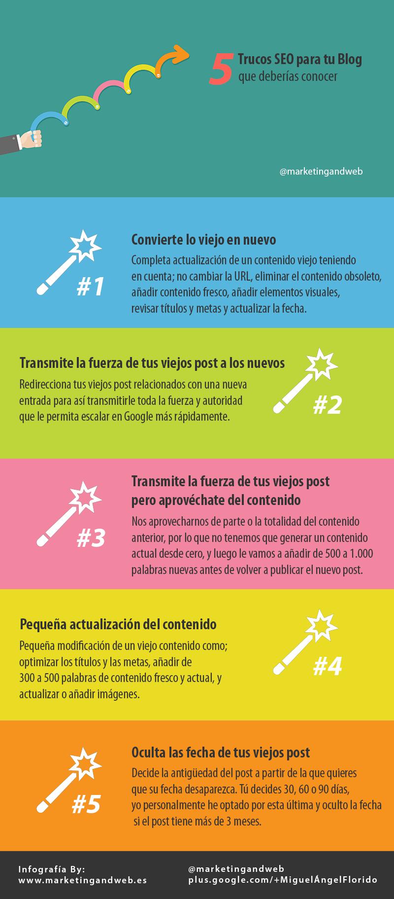 trucos seo blog infografía
