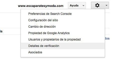 detalles verificacion webmaster tools