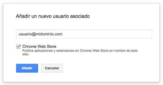 asociado chrome web store