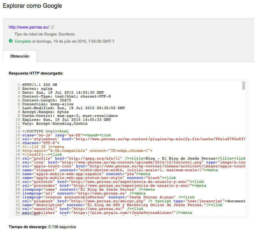 obtener explorar como google
