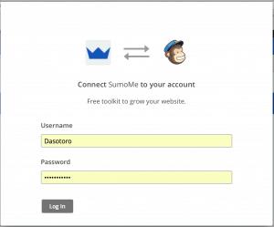 Conexión sumome mailchimp para la newsletter