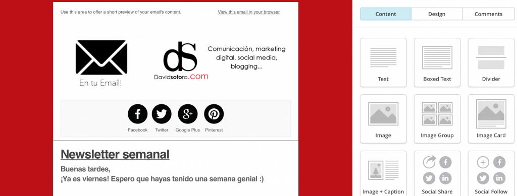 Paso 4 diseño de la newsletter
