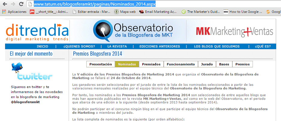 blogosfera del marketing