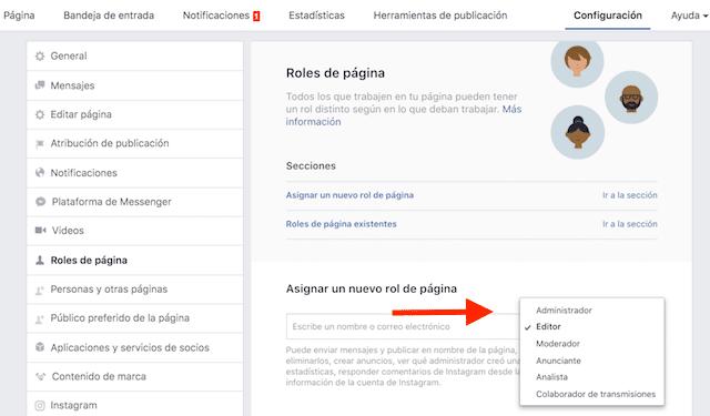 añadir administradores facebook